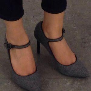 Charles & Keith shoes Grey w black trim straps